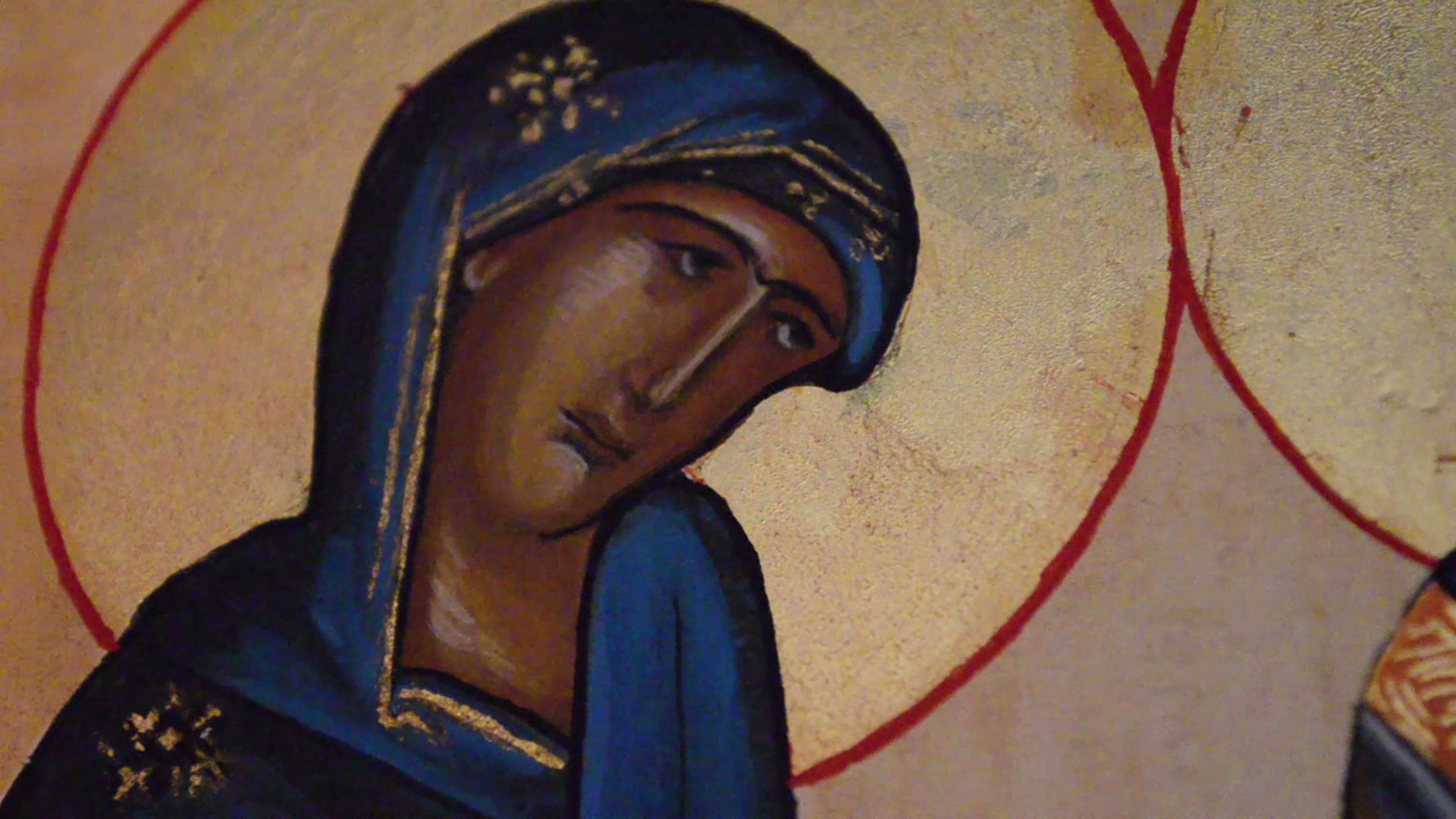 Icon painting by Carole Cramette